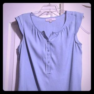 Ann Taylor LOFT Blue Blouse, Small